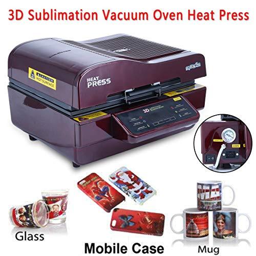 Funnyrunstore Multifunción 3D Sublimación Al Vacío Calor Máquina ...