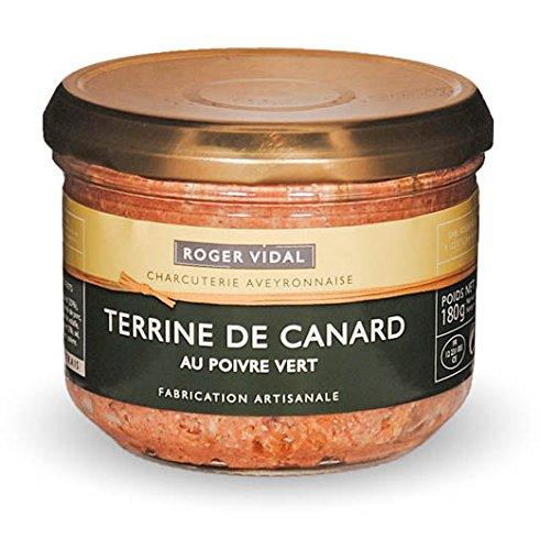Roger Vidal - Pastete Ente mit grünem Pfeffer (Terrine de Canard au poivre vert) 180 g