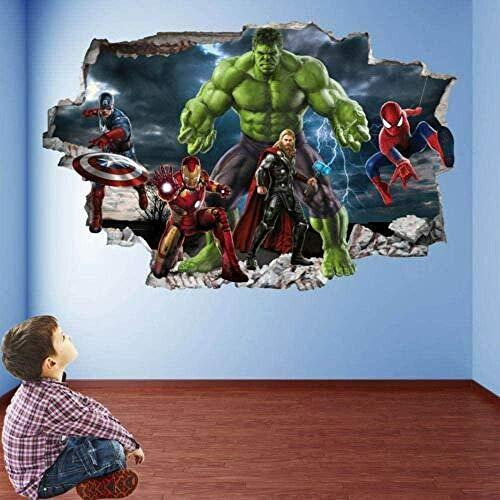 SHUBING Wall Sticker Wall Art Sticker Mural Decal Hero Spider Hero