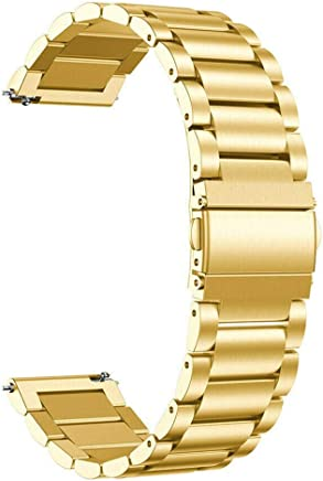 UEB-us Men's Stainless Steel Watch Strap Wrist Band For Samsung Galaxy Active 170.00 * 20.00 * 5.00 Gold
