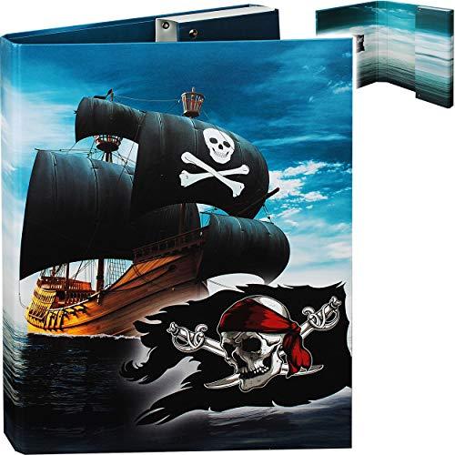 alles-meine.de GmbH großer A4 - Heftordner / Heftbox / Sammelordner - Pirat - Piratenschiff - Aktenordner - für Hefte - Zeichnungen - Dokumente - Sammelmappe / 5,5 cm breit - Hef..