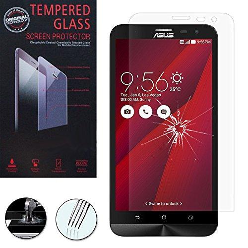 ANNART - Protector de pantalla de cristal templado para Asus Zenfone 2 Laser ZE600KL/ZE601KL de 6.0', transparente