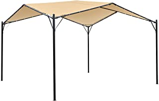 MELLCOM 12x12ft Gazebo Canopy Soft Top Gazebo Canopy with Powder-Coated Frame for Patio, Easy Assembly, Backyard Weather-R...