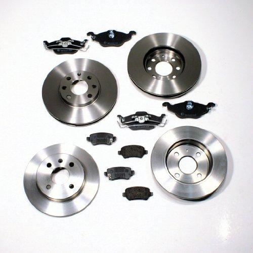 4-Loch - Bremsscheiben/Bremsen Set + Bremsbeläge vorne + hinten