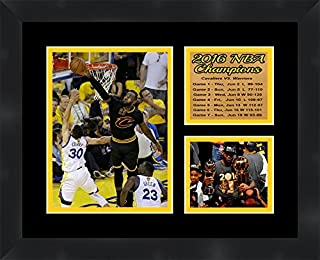 Frames by Mail Cleveland Cavaliers 2016 NBA Champions Lebron James 11 x 14 Framed Collage Photos