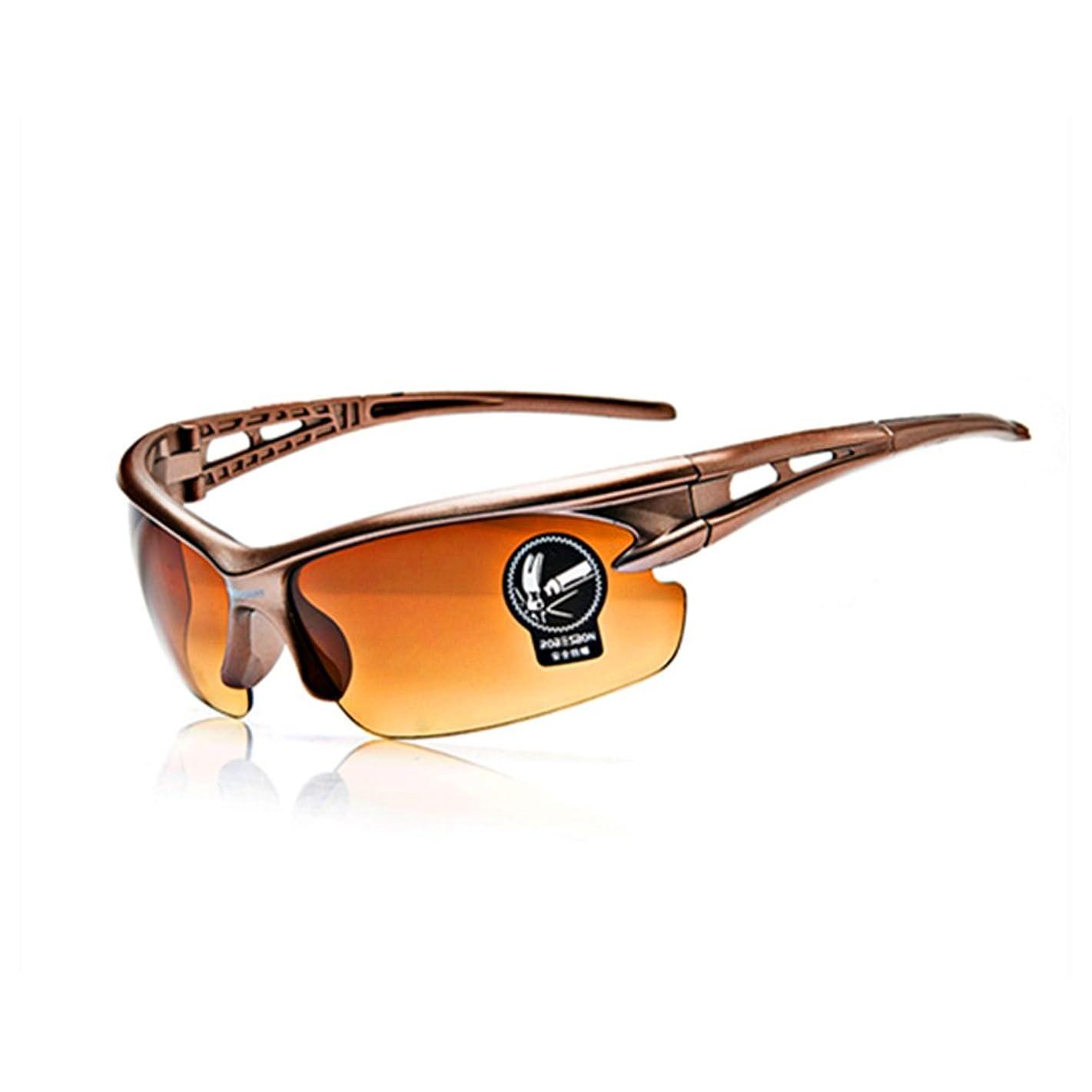 直面するまで良心スポーツサングラス 400 紫外線カット紫外線レンズ 偏光 防爆 スポーツサングラス 自転車 釣り 野球テニス スキーランニング ゴルフ ドライブ 運動メガ(クリアレンズ)