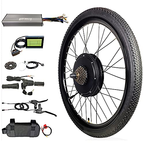 DREAMyun Kit de Conversión de Bicicleta Eléctrica 36V 48V 1000W 26' 27.5' 29' Delantera Rueda Trasera DIY Electric Bike Conversion Kit con Controlador de Modo Dual,36v,1000W Rear 26'