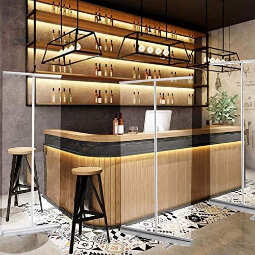 Byakns Pantalla protectora transparente Pantalla de higiene transparente, pájaros de pie de pie, pantallas de estornudo, banner de rodillos para hoteles, pubs, restaurantes y espacios de trabajo
