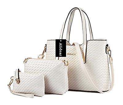 Alidear Nouvelle marque et haute qualité Mode Sac à Main Porté Epaule Femme Sac Fourre Ensemble de 3 sacs