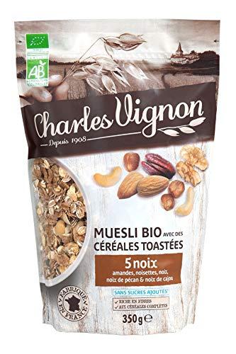 Muesli Bio Céréales Toastées 5 Noix 350g Charles Vignon