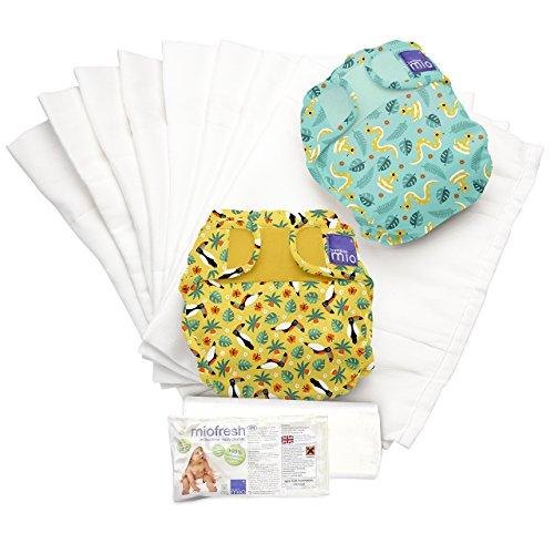 Bambino Mio, mioduo set de pañales reutilizables, selva tropical b, talla 2 (9 kg+)