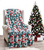 Décor&More Festive Holiday Microplush Throw Blanket (50' x 60') - Christmas Pickup Truck
