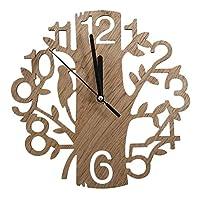 壁掛け時計モダンウッドヴィンテージデザイン壁掛け時計ファッションスタイルホームリビングルームコーヒーショップシックなバー個性静かな時計正方形の形