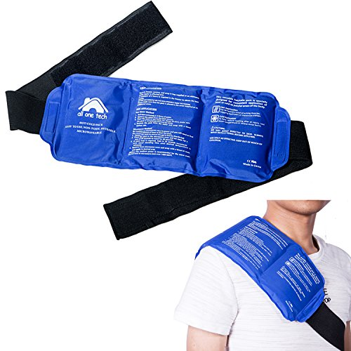 Blue Neck Ice Packs for Injuries - Cold Compress Shoulder Therapy Wrap...