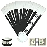 Money Bands Currency Sleeves Straps – Made in USA (Pack of 330 for $25) Self-Adhesive Mo...