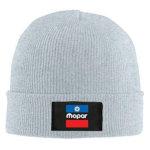 Lawenp Hombre Mujer Knit Beanie Hat M opar Logo Warm Winter Hat Skull Cap Unisex