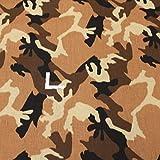 kawenSTOFFE Tarnstoff - Camouflage beige Sand braun -