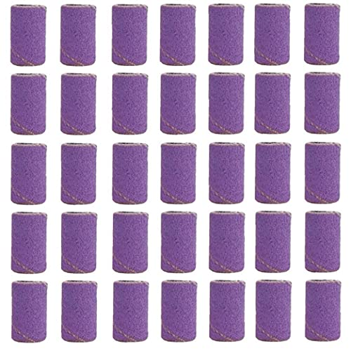 Berrywho Nail Sanding Bands Electric Nail Files Drill Mandrel Bits Bands for Acrylic Gel Fake Nails Purple 100PCS Style3