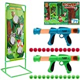 DigHealth 2 Piezas Pistola Juguete con Objetivo de Tiro Mundo Selva, Pistola Blaster con 24 PCS Bolas de Espuma, Lanzador Pelotas Espuma, Regalos de Cumpleaños y Navidad para Niños de 3-10 Años