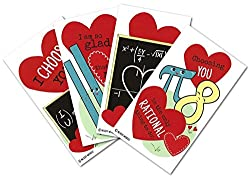 Math-themed Valentine Cards