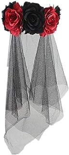 Halloween Costume Black Long Veil Tulle Bridal Wedding Cathedral Veil Headpiece