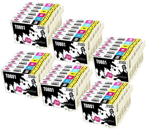 INK INSPIRATION® Ersatz für Epson T0801-T0806 (T0807) Druckerpatronen 36er-Pack, kompatibel mit Epson Stylus Photo P50 PX720WD PX700W PX800FW PX810FW PX820FWD PX830FWD PX650 PX710W R285 RX585