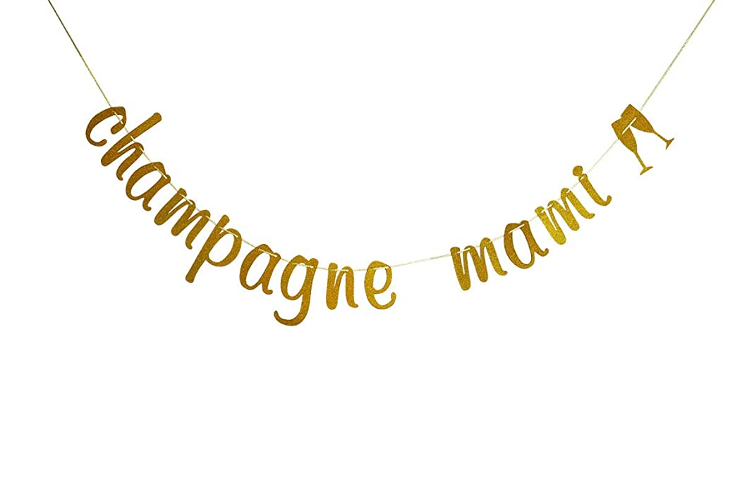 Champagne Mami Banner, Drake Bunting Sign, Gold Glitter Party Decorations