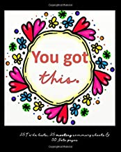 You Got This : 25 To-do lists, 25 meeting summary sheets & 50 Note pages: Gifts to encourage: Inspirational: To-do lists: Planner: Meeting Summary: Journal