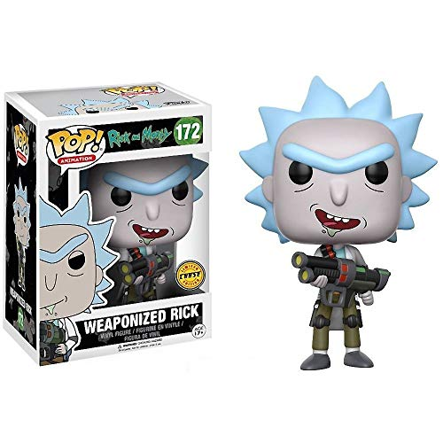 RICK AND MORTY Funko Pop! Animation Weaponized Rick Chase Variant Vinyl Figure (Bundled with Pop Box Protector CASE)
