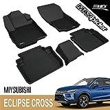 3D MAXpider para Mitsubishi Eclipse Cross 2017-2020, Aptas para Todas Las Condiciones Climáticas, Alfombrillas de Goma de Coche (Juego de Alfombras, Color Negro)