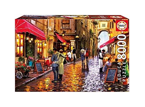 Puzzles 8000 Piezas de cartón Puzzle Street Cafe Educativo Juego de Niños Desafío Adultos Intelectual Puzzle decoración del hogar Regalo