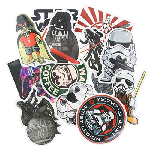 ⭐️ Top Stickers ! ⭐️ Lot de 25 Stickers Star Wars - Autocollant HD Non Vulgaires – Style, Cool, Bomb, Dark Vador - Customisation portable, bagages, moto, vélo, skateboard, murs (#25-Star Wars 2)