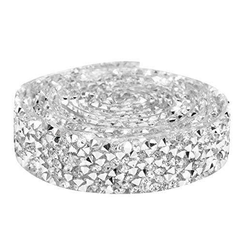 Cinta de diamantes de imitación, bandas de malla de cristal, apliques con cuentas para planchar, adornos para zapatos de boda, perfecta para decoraciones de cumpleaños, ramo, eventos de baby shower,