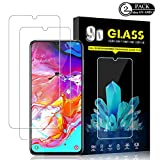 Galaxy A70 Screen Protector by YEYEBF, [2 Pack] HD-Clear Tempered...