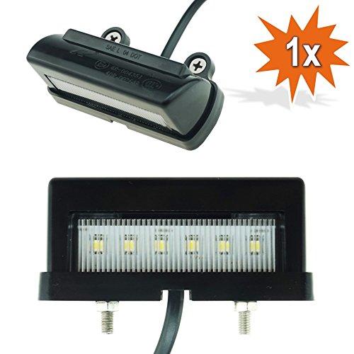 Do!LED 404 universal LED Kennzeichenbeleuchtung Xenon Weiss mit E-Prüfzeichen für MOTORRAD ATV QUAD ANHÄNGER SCOOTER