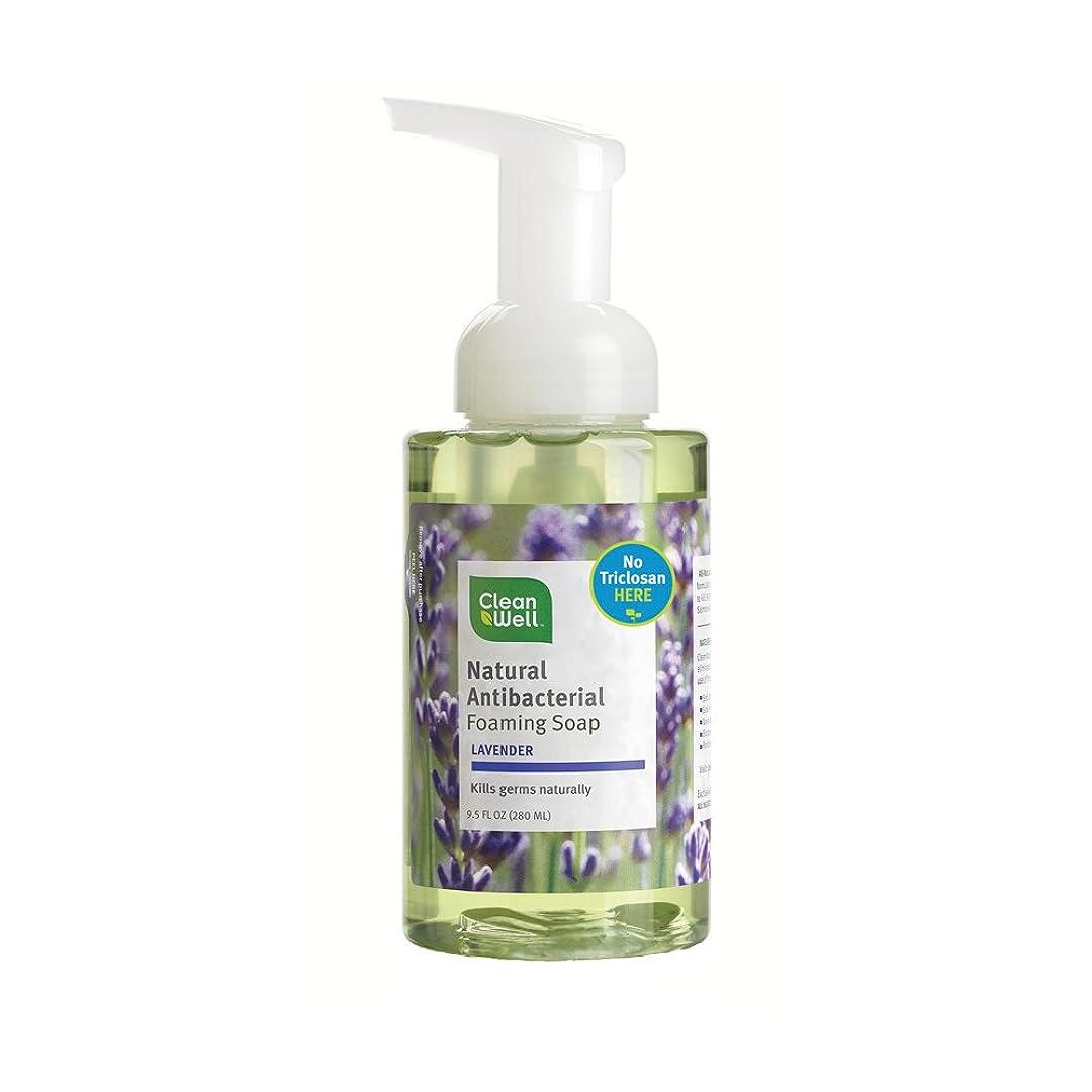 通行料金運ぶ若さAll-Natural Antibacterial Foaming Hand Wash Lavender Absolute - 9.5 fl oz by CleanWell