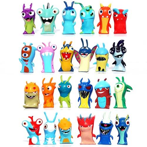 GSJD Juego de 24 figuras de acción de Slugterra, miniPVC, juguete para niños, regalo de Navidad, cumpleaños, lindo modelo de dibujos animados, colección de juguetes