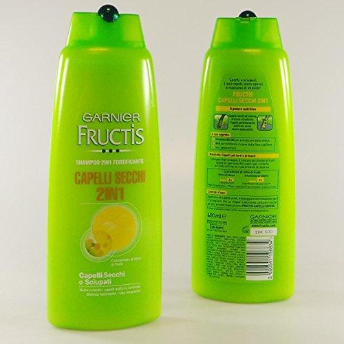 Fructis Shampoo e Balsamo 2 in 1 Capelli Secchi 400 ml Nutriente