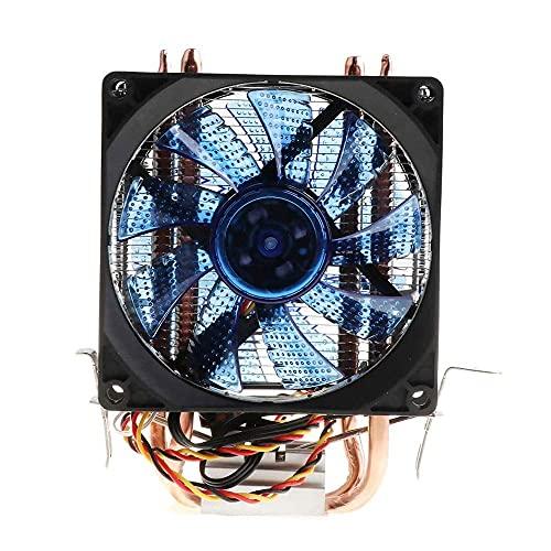 Tubo de calor de cobre puro 1150 1151CPU Radiador AMD computadora de escritorio refrigerado por aire ventilador silencioso, ventilador LED computadora CPU
