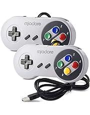 iNNEXT 2X USB-kontroll för SNES NES spel, klassisk retro USB-spelplatta joystick för Windows PC MAC och Raspberry Pi-system