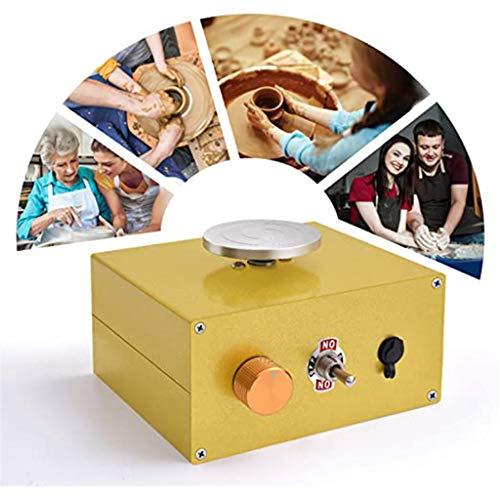 MISS YOU Keramikradmaschine für Kinder und Anfänger, elektrische Keramikmaschine mit 2 Plattenbahnen (6,5 cm / 10 cm) und keramisches Formwerkzeug DIY Clay-Werkzeug wiederaufladbar