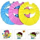 Tang Yuan 3 Babypartykappen,verstellbare Duschhauben,Duschschutzzubehör,damit kein Wasser in Augen,Gesicht und Ohren fließt