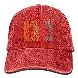 Presock Aloha Hawaiian Denim Hat Adjustable Women's Baseball Cap