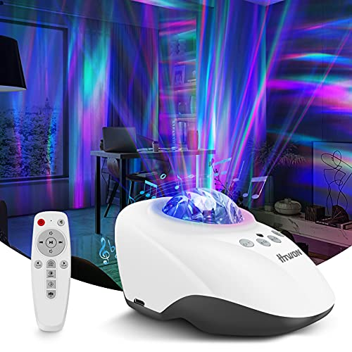 Liwarace Northern Lights Projector, Night Light Projector and White Noise Machine for Adults Kids with Bluetooth Speaker, Room Decor for Teen Girls Boys, Aurora Projector for Bedroom Accessories