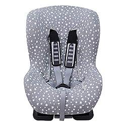 JANABEBE Bezug Universal für Auto-Kindersitz Gr 1 2 3 (White Star)
