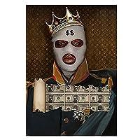 大人のための5Dダイヤモンドペインティングキットナンバーキットマンマネーフルドリルクリスタルラインストーンジェムアートクリスマスギフト、家の壁の装飾(正方形、40×50cm)