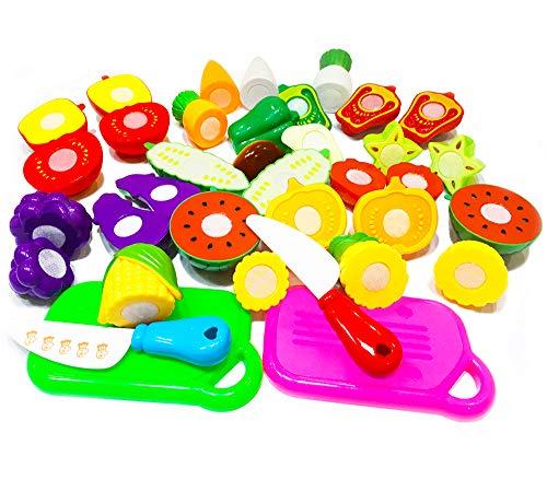 20件厨房玩具有趣的切割水果和蔬菜假装食物游戏的孩子,教育游戏食品为儿童女童假装食物玩具