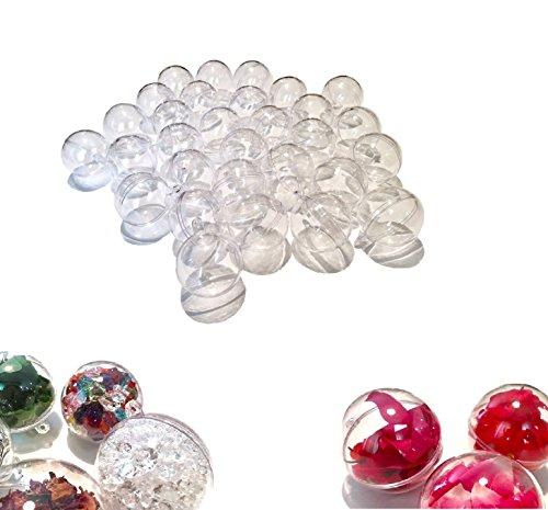 CRYSTAL KING 30 Stück Acryl-Kugeln 7 cm Bastel-Kugeln Acrylkugel Transparent teilbar Durchsichtig Kunstoff-Kugel Acryl Acrylic Ball Acrylkugeln 70mm