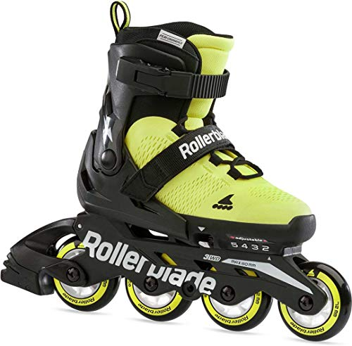Rollerblade Microblade Se Inline-Skate, Giallo Neon/Nero, Small EU