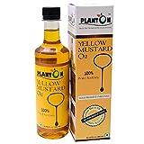 Planton Yellow Mustard Oil / Cold-Pressed / Unrefined / 500ml / 100% Pure and Natural / Unrefined / No Preservatives / Plant-Based / Peeli Sarson / Mustard Oil